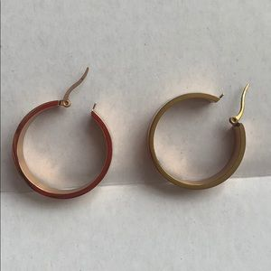 Madewell thick gold hoops